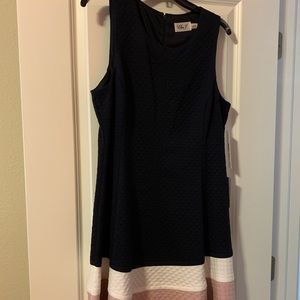Eliza J Sz16 Sleeveless Quilted Knit A-Line Dress